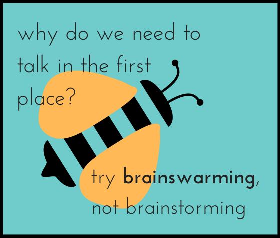 """Brainstorming without talking: """"Brainswarming"""""""