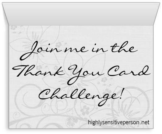 Join me in the Thank You Card Challenge